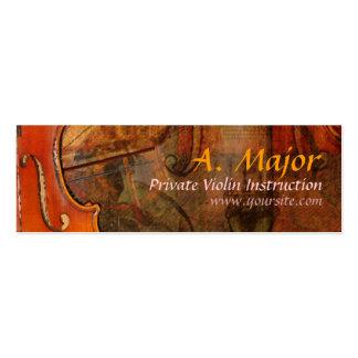 Extracto 3 del violín tarjetas de visita mini