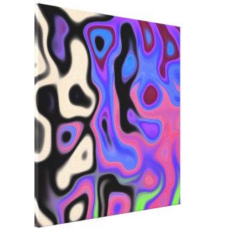 Extracto 4,4 del partido del color impresión en lienzo estirada