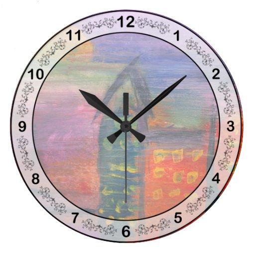 Extracto - acrílico - perdido en la ciudad relojes de pared