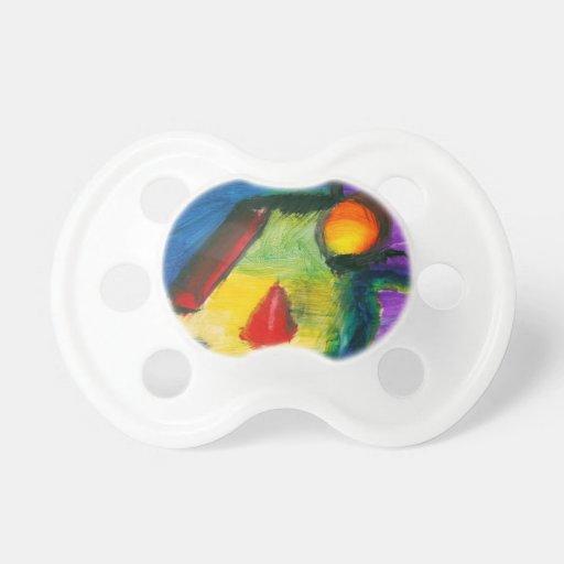 Extracto - acrílico - primitivos chupete de bebé