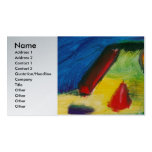Extracto - acrílico - primitivos plantilla de tarjeta personal