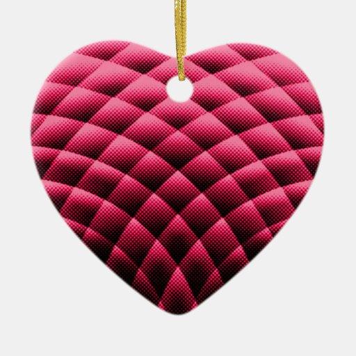 extracto adorno de cerámica en forma de corazón