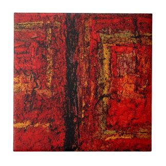 Extracto africano rojo de la estructura azulejo cuadrado pequeño