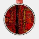 Extracto africano rojo de la estructura ornamento de reyes magos