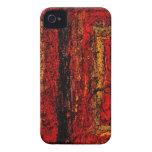 Extracto africano rojo de la estructura iPhone 4 cárcasa