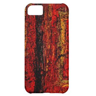 Extracto africano rojo de la estructura funda para iPhone 5C