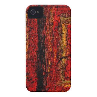 Extracto africano rojo de la estructura iPhone 4 Case-Mate fundas
