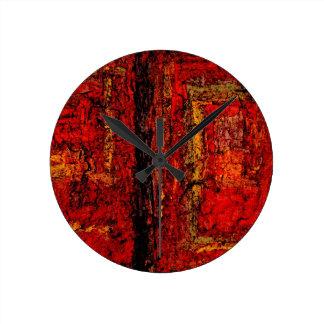 Extracto africano rojo de la estructura reloj redondo mediano
