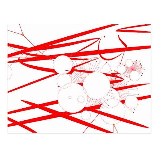 extracto al azar del arte digital rojo oriental de tarjetas postales