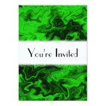 Extracto al azar verde invitación 12,7 x 17,8 cm