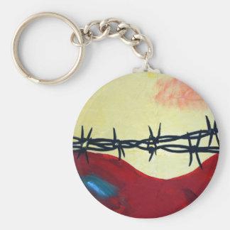 Extracto - alambre de púas llavero redondo tipo pin
