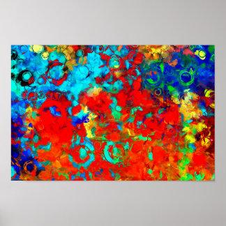 Extracto amarillo azul rojo de las póster