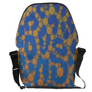 Extracto amarillo azul Trippy del guepardo Bolsas De Mensajería