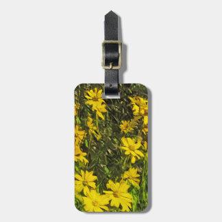 Extracto amarillo de las margaritas del Wildflower Etiquetas De Equipaje
