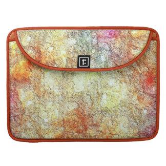 Extracto amarillo-naranja rosado soleado caliente fundas para macbooks