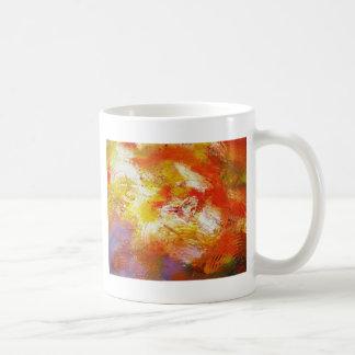 Extracto amarillo rojo taza clásica