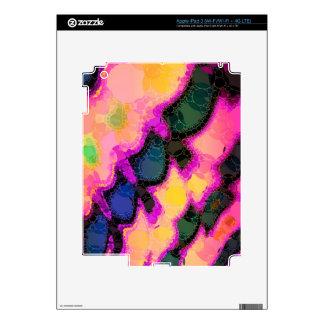 Extracto amarillo rosado del melocotón iPad 3 skins