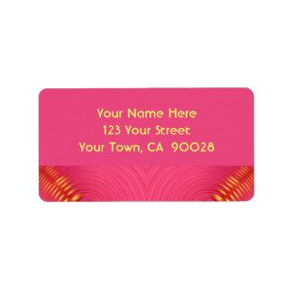 extracto amarillo rosado etiqueta de dirección