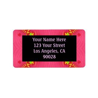 extracto amarillo rosado etiquetas de dirección