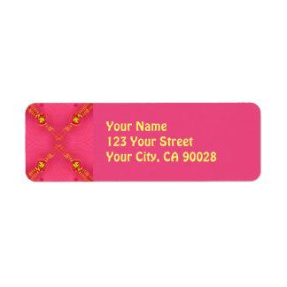 extracto amarillo rosado etiquetas de remite