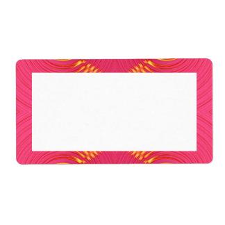 extracto amarillo rosado etiquetas de envío
