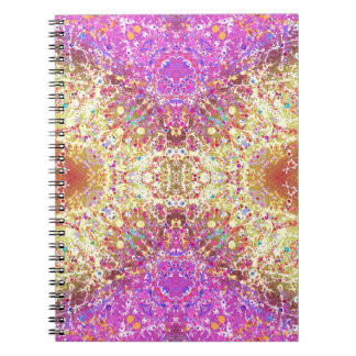 Extracto amarillo rosado loco spiral notebooks