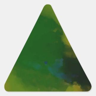 Extracto amarillo verde creativo pegatina triangular