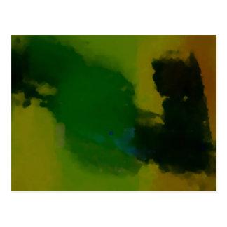 Extracto amarillo verde creativo tarjetas postales