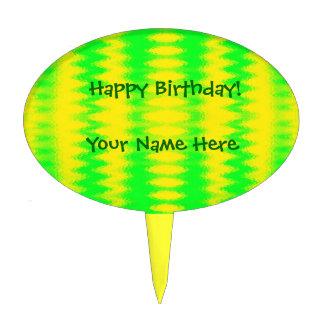 Extracto amarillo verde figuras para tartas