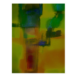 Extracto amarillo verde moderno postal
