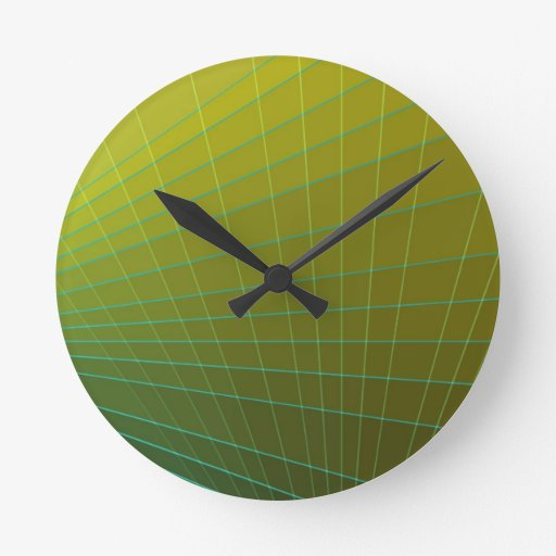 Extracto amarillo verde reloj redondo mediano