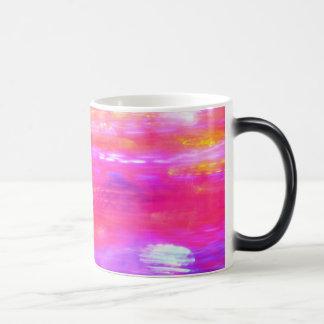 Extracto amarillo y azul rosado taza mágica