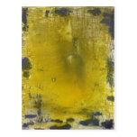 Extracto amarillo y gris tarjetas postales