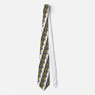Extracto amarillo y negro 2 corbatas personalizadas