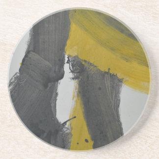 Extracto amarillo y negro 2 posavasos de arenisca