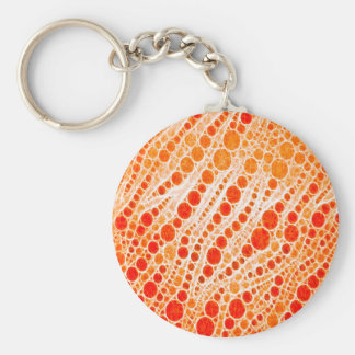 Extracto anaranjado fluorescente de la cebra llavero redondo tipo pin