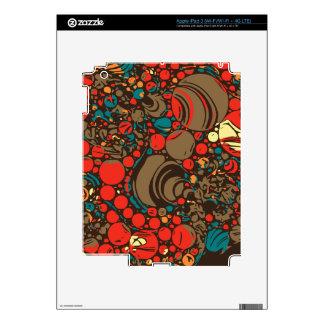 Extracto anaranjado rojo marrón iPad 3 skin