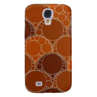 Extracto anaranjado rústico del círculo de Brown Funda Para Galaxy S4