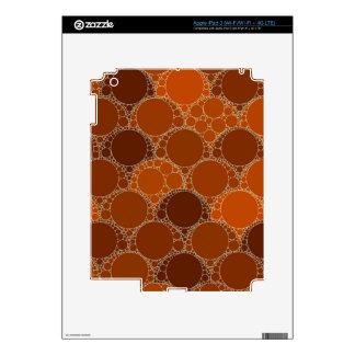 Extracto anaranjado rústico del círculo de Brown Pegatinas Skins Para iPad 3