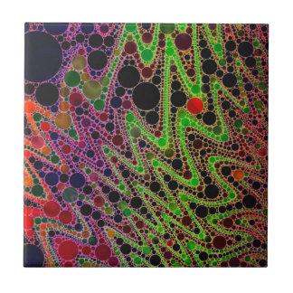 Extracto anaranjado verde fluorescente del zigzag azulejo cuadrado pequeño