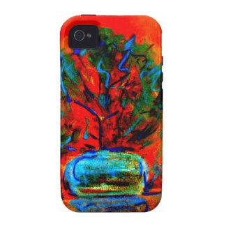 Extracto artístico hermoso del color de flores iPhone 4 fundas
