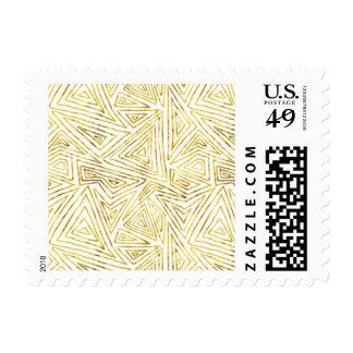Extracto atractivo de los triángulos del oro timbres postales
