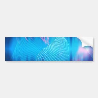 Extracto audio eléctrico azul de la forma de onda pegatina para auto