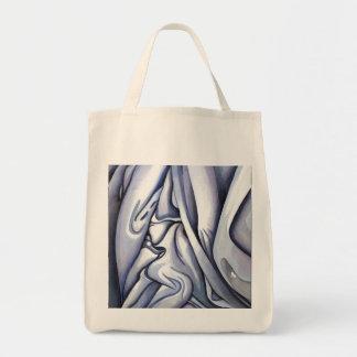 Extracto azul agraciado del paño bolsas lienzo