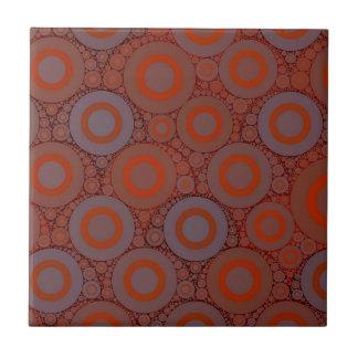 Extracto azul anaranjado del círculo azulejo cuadrado pequeño
