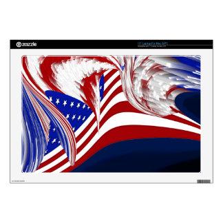 Extracto azul blanco rojo americano de la bandera portátil calcomanías