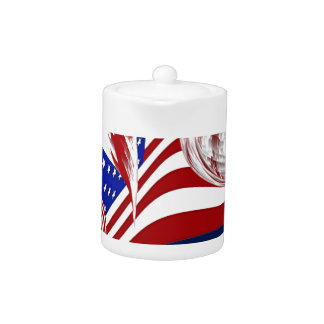 Extracto azul blanco rojo americano de la bandera