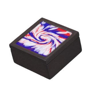 extracto azul blanco rojo patriótico cajas de recuerdo de calidad