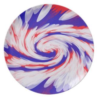 extracto azul blanco rojo patriótico platos