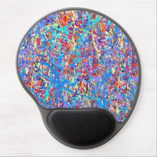 Extracto azul brillante de la salpicadura de la alfombrilla gel